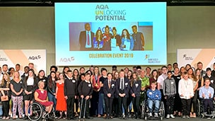 Students celebrate completing AQA Unlocking Potential programme