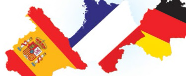German, French and Spanish flags Languages for life: options evening materials