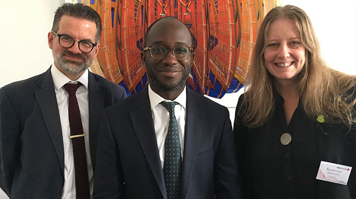 Alex Scharaschkin, Sam Gyimah MP and Dr Rachell Carr