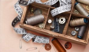 fashion and textiles sewing box