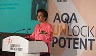 AQA and Dame Kelly Holmes celebrate joint mentoring programme success