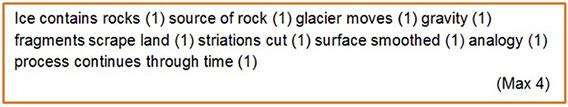 Mark scheme for geography exam question