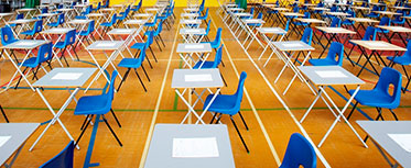 empty hall GCSE exams preparation resources