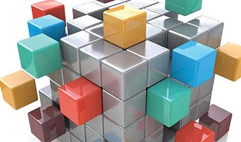 different coloured blocks