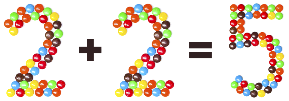 Image showing 2 + 2 = 5