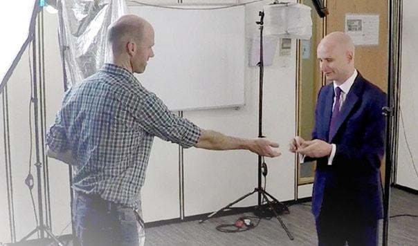 Dale Bassett making a video