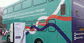 GCSE and A-level changes AQA Bus