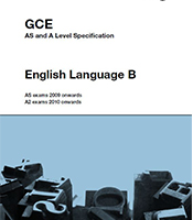 as level english language coursework aqa b If you are interested in how the english language works, this course is ideal for you the course is 40% coursework and 60% examinations in year one, you will be.