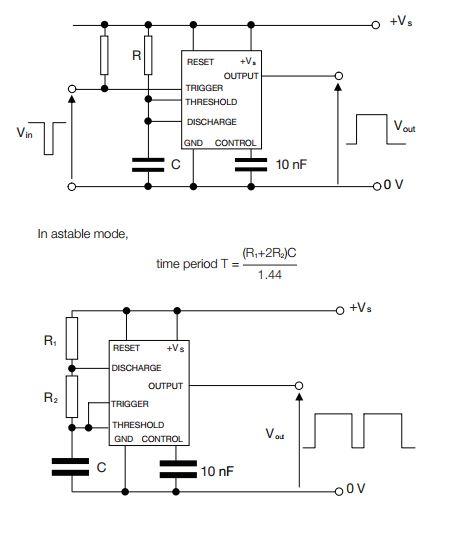 Aqa gcse electronics subject content monostable and astable generators ccuart Choice Image