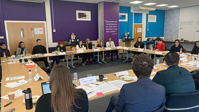 Student Advisory Group's first official meeting at AQA's Manchester office