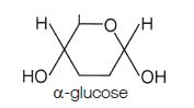 structure of alpha-glucose